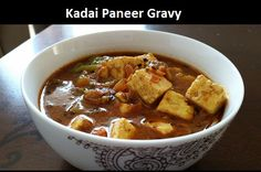 Paneer is cut into cubes and cooked in tomato and onion gravy with routine spices and kadai masala.