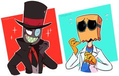 I'M SO HYPE FOR THIS SHOW U GUYS.. I LUV.. BLACK HAT AND FLUG.... I'm already crushing hard on these two shhhh