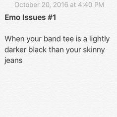 Eyeliner black clothes emo goth
