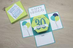 Explosionsbox - zum 30. Geburtstag - Fensterschachtel - Produkte von Stampin up