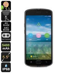 AGM X1 Rugged Smartphone K484-CVAFL-M983-Black-4+64
