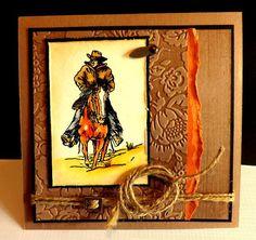 Saddle Up Masculine western card