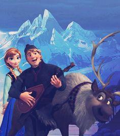 disney frozen kristoff | Disney Frozen Anna, Kristoff and Sven