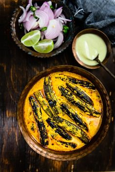 Bhindi ka Salan is a spicy and tangy dish and is crafted using jaggery and tamarind paste, which gives it a slightly sour and sweet taste