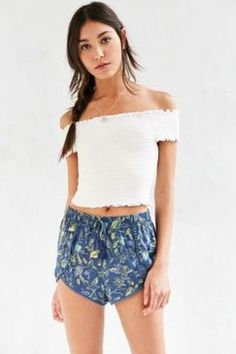 UrbanOutfitters Ecote Dylan Printed Dolphin Short Found on my new favorite app Dote Shopping #DoteApp #Shopping