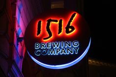 1516 Brewing Company, a great place to eat & drink in Vienna. Brewing Company, Places To Eat, Vienna, Pumpkin Carving, Brewery, Photo Galleries, Neon Signs, Austria, Cruise