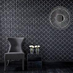 Quantum Wallpaper - Black/Silver