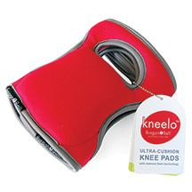 "Kneelo Knee Pads Poppy-Red- Memory foam comfort that moves with you!  Uniquely designed to offer the ultimate comfort and protection for your knees. ""Hook and Loop"" adjustable Velcro straps allow for easy on and off with out having to slip them over shoes or clothing. One size fits all."