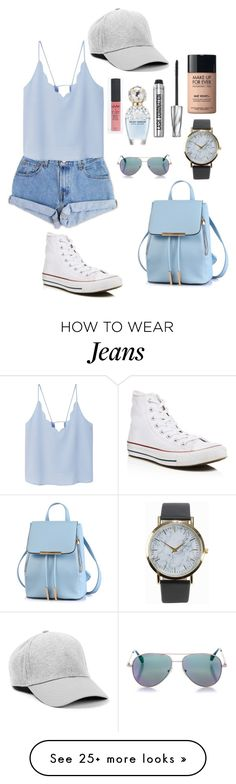 """""""Everything was blue, his pills, his hands, his jeans"""" by coolstorybroloveya on Polyvore featuring Levi's, MANGO, Converse, NLY Accessories, Marc Jacobs, MAKE UP FOR EVER, Bare Escentuals and Cutler and Gross"""