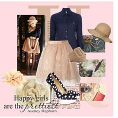 Happy girls are the prettiest girls, created by croquette on Polyvore