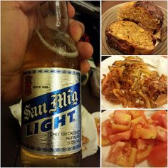 #bangus #dried #fish and #tomato w/ #sanmig #light #beer #魚 の肉詰め #干物 #トマト #サンミゲル #ライト #ビール #yummy #food #philippines #フィリピン