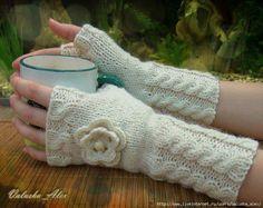 guantes dos agujas