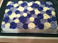 Sheet Wedding Cake Rosettes | Rosette Sheet Cake Cakes Picture