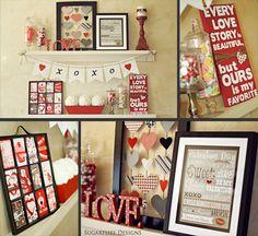 Valentines Decor by Sugarflies Designs    #Valentines #ValentinesDecor #ValentinesMantel #ValentinesDecorations #ValentinesIdeas #ValentinesShelf #ValentinesDIY