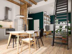 Nordlux Artist függesztett skandináv LED lámpa szabályozható fényforrással. Fotó: @yonoarchitecture Scandinavian Style, Conference Room, Divider, Kitchen, Table, Inspiration, Furniture, Home Decor, Biblical Inspiration