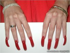 Sexy Nails, Toe Nails, Perfect Nails, Gorgeous Nails, Beauty Nails, Hair Beauty, Long Red Nails, Dream Nails, Red Dragon