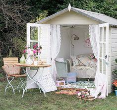Dress up a Home Depot shed.  In San Francisco I'm guessing I rent this for $1200/mo  #home #decor #design #DIY #girlstuff #lynnfriedman #garden