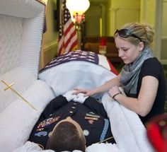 US soldier's wake