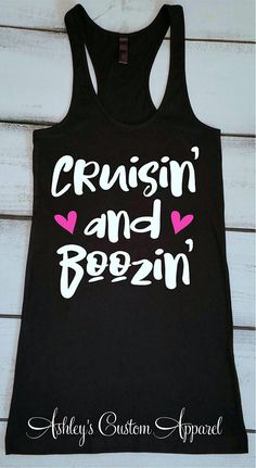 ae9f8859 Cruise Shirts Funny Cruise Tank Tops Cruisin' and Boozin' Day Drinking  Cruise Tshirt Funny Drinking Shirts Swimsuit Cover Up Girls Getaway