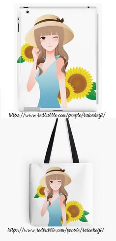 Take summer and sunflowers with you with this design shown here on iPad case and tote bag. with this iPhone case. Cases for iPhones and Samsung models available. Design also on tshirts, throw pillows/ cushions, notebooks, and more making it a great gift idea for any occasion. Learn more here (Scroll down and click 'Available Products' to see other products): https://www.redbubble.com/people/raionkeiji/works/28015624-a-walk-among-sunflowers?p=ipad-case