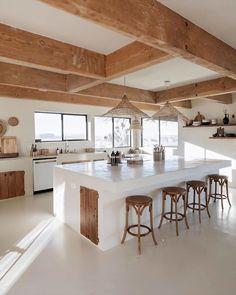 Loft Interior, Modern Interior Design, Kitchen Interior, Ibiza Style Interior, Design Kitchen, Home Kitchens, Kitchen Remodel, Sweet Home, Home Decor