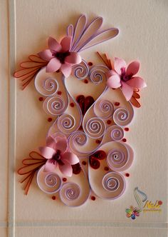Neli Quilling Art: Quilling cards - With love...- 2
