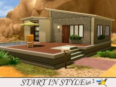 Sims 4 Updates: TSR - Houses and Lots, Residential Lots : Start in Style lot 2 by evi, Custom Content Download!