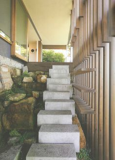 #stairs #open #outdoor #concrete #timber #steps