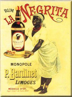 Rum la Negrita - Vintage Retro Advertisement Ad Art Poster Print Postcard ☮~ღ~*~*✿⊱ レ o √ 乇 ! Retro Poster, Poster Ads, Retro Ads, Vintage Advertising Posters, Old Advertisements, Vintage Travel Posters, Pub Vintage, Vintage Labels, Old Posters