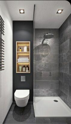 Minimalist Small Bathrooms, Beautiful Small Bathrooms, Amazing Bathrooms, Modern Bathroom Decor, Bathroom Design Small, Bathroom Interior Design, Bathroom Ideas, Bathroom Designs, Scandinavian Bathroom