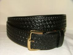 Handcrafted Embossed Leather Belt no B 3015 Black by ahbelts, $35.00