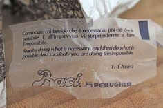 Baci perugina Quote - #baci #perugina #fchocolate