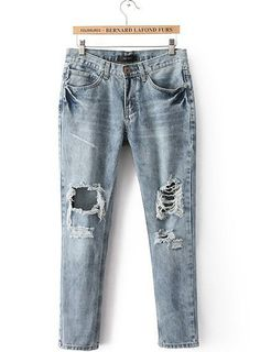 USD$ 24.99 Cool Soft Loose Pockets Top Quliaty Ripped Jeans: tidestore.com #wholesale jeans for women