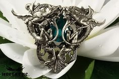 Gothic Necklace with Dragons - Unisex Pendant by Nocturne