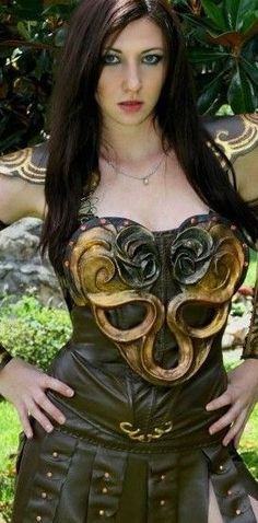 FILM QUALITY Xena Warrior Princess Chest and Back Armor COSPLAY- RENFAIR Costume #Armor