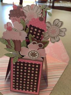 Opened up Angela's birthday card by Rainy Day Stamper - Cards and Paper Crafts at Splitcoaststampers