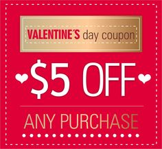 VALENTINE'S DAY  $5 OFF any purchase  myclicksupermarket.com  @myclicksupermarket #myclicksupermarket
