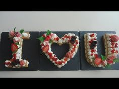 How to make tart letters/ cake trend 2018 - YouTube