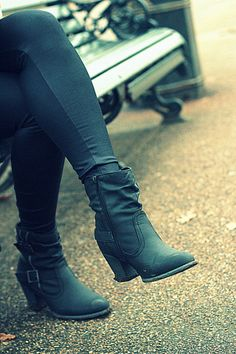 Barratts black leather ankle boots