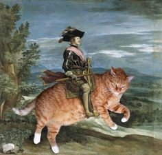 Cats inserted into famous paintings