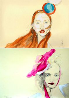 portrait drawings by Thomas D. Meyer
