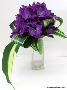 "Purple Flower Bouquets | Would you ever tell your florist - ""Go for it - be creative!"" ""I trust ..."