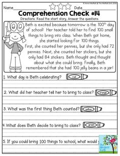 First Grade Reading Comprehension Worksheets 1st Grade Reading Worksheets, First Grade Reading Comprehension, Literacy Worksheets, First Grade Activities, Reading Activities, Free Reading Comprehension Worksheets, Money Worksheets, Comprehension Strategies, Reading Response