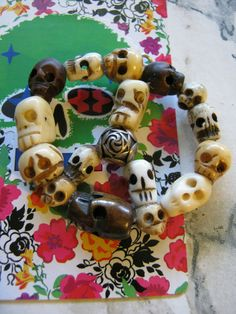 Skulls Peace Sign Pendant by janissupplies on Etsy, $12.50