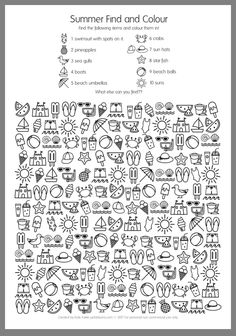 Summer Find and Colour Activity - free printable fun! - - Summer Find and Colour Activity – free printable fun! Summer Find and Colour Activity – free printable fun! Color Activities, Summer Activities, Coloring For Kids, Coloring Pages, Hidden Pictures, English Activities, Activity Sheets, Summer School, In Kindergarten