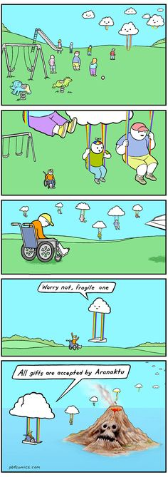 """23 Righteously Twisted Comics From The Perry Bible Fellowship - Funny memes that """"GET IT"""" and want you to too. Get the latest funniest memes and keep up what is going on in the meme-o-sphere. Dark Humor Comics, Dark Comics, Funny Comics, Humor Dark, Memes Humor, Funny Jokes, Funny Fails, Perry Bible Fellowship, Dark Memes"""