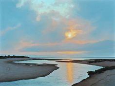 Jim Holland (1955 - Present), American Artist - Muted Sunset - 30 x 40