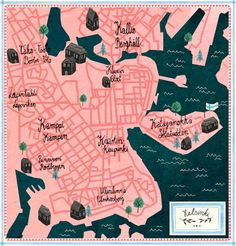 Helsinki City map - Eva Wunsch