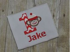 All Designs :: Boy Sock Monkey