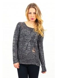Lucca Couture Distressed Sweater